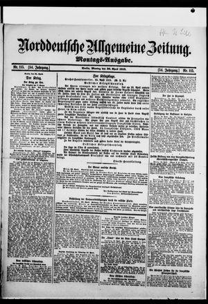 Norddeutsche allgemeine Zeitung vom 26.04.1915