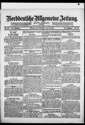 Norddeutsche allgemeine Zeitung vom 28.04.1915