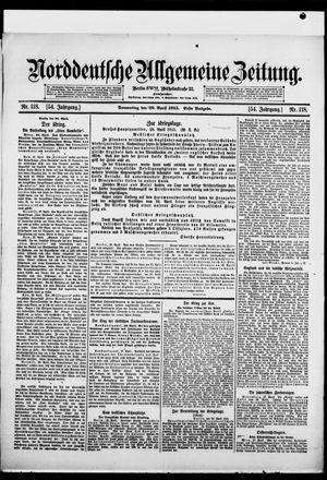 Norddeutsche allgemeine Zeitung vom 29.04.1915
