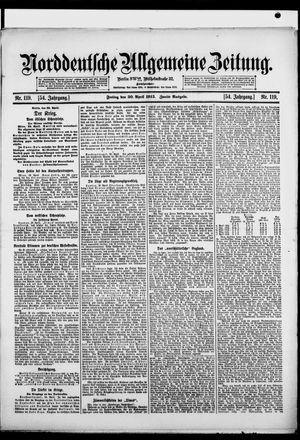 Norddeutsche allgemeine Zeitung vom 30.04.1915