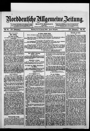 Norddeutsche allgemeine Zeitung vom 11.01.1916