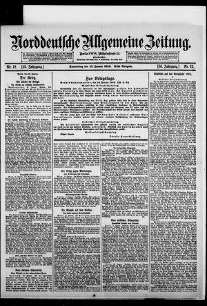 Norddeutsche allgemeine Zeitung vom 13.01.1916