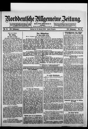 Norddeutsche allgemeine Zeitung vom 14.01.1916