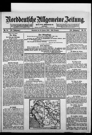 Norddeutsche allgemeine Zeitung vom 15.01.1916