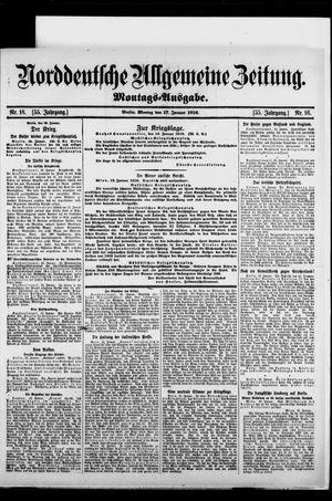 Norddeutsche allgemeine Zeitung on Jan 17, 1916