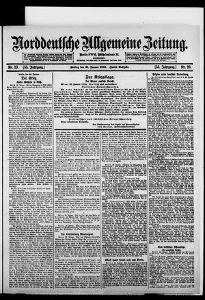Norddeutsche allgemeine Zeitung on Jan 21, 1916