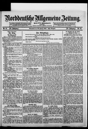 Norddeutsche allgemeine Zeitung vom 22.01.1916