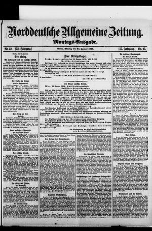 Norddeutsche allgemeine Zeitung vom 24.01.1916