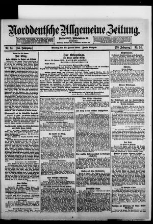 Norddeutsche allgemeine Zeitung vom 25.01.1916