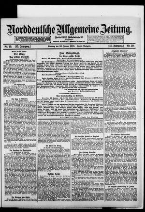 Norddeutsche allgemeine Zeitung vom 30.01.1916