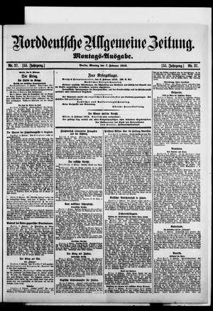 Norddeutsche allgemeine Zeitung vom 07.02.1916