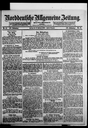 Norddeutsche allgemeine Zeitung vom 11.02.1916