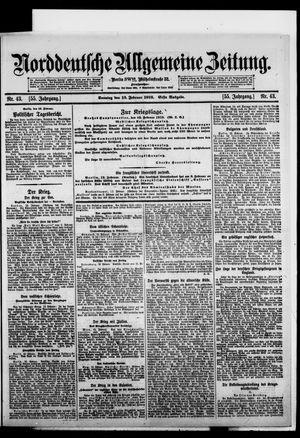 Norddeutsche allgemeine Zeitung vom 13.02.1916