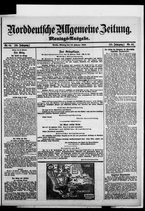 Norddeutsche allgemeine Zeitung vom 14.02.1916