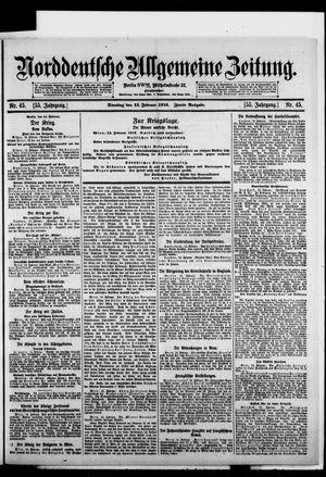 Norddeutsche allgemeine Zeitung on Feb 15, 1916