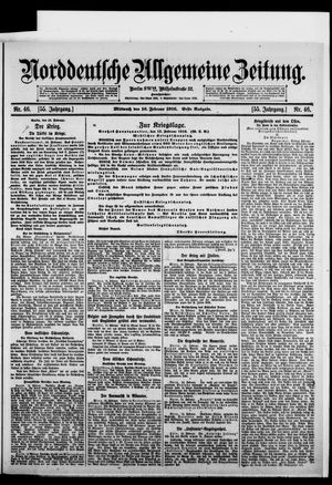 Norddeutsche allgemeine Zeitung vom 16.02.1916