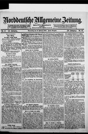 Norddeutsche allgemeine Zeitung vom 17.02.1916