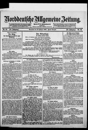 Norddeutsche allgemeine Zeitung vom 19.02.1916