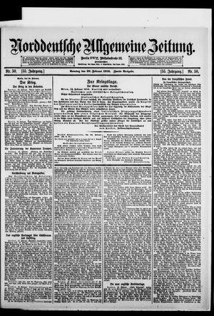 Norddeutsche allgemeine Zeitung vom 20.02.1916