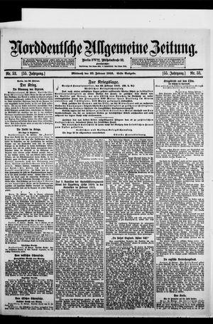 Norddeutsche allgemeine Zeitung on Feb 23, 1916