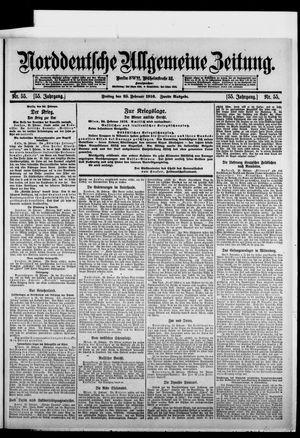 Norddeutsche allgemeine Zeitung vom 25.02.1916