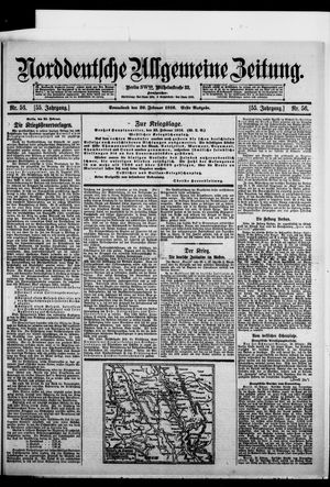 Norddeutsche allgemeine Zeitung vom 26.02.1916