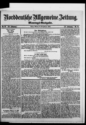 Norddeutsche allgemeine Zeitung vom 28.02.1916
