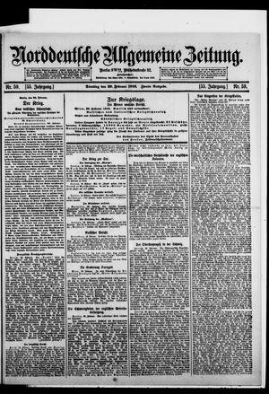 Norddeutsche allgemeine Zeitung vom 29.02.1916