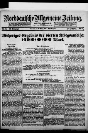 Norddeutsche allgemeine Zeitung on Mar 25, 1916