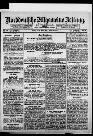 Norddeutsche allgemeine Zeitung vom 31.03.1916