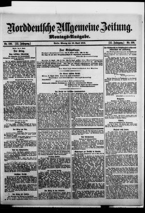 Norddeutsche allgemeine Zeitung vom 10.04.1916