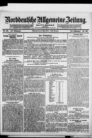 Norddeutsche allgemeine Zeitung vom 12.04.1916