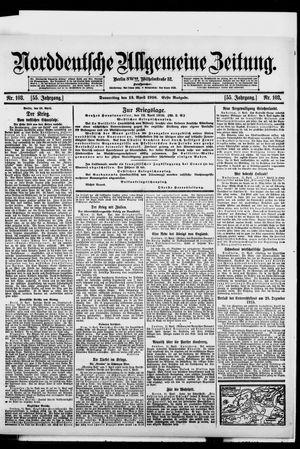 Norddeutsche allgemeine Zeitung vom 13.04.1916