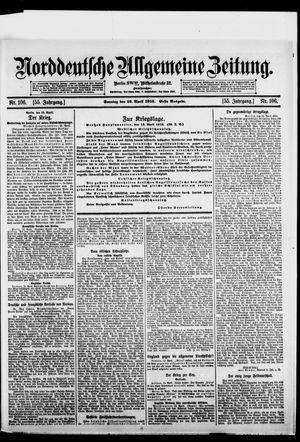 Norddeutsche allgemeine Zeitung vom 16.04.1916