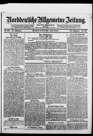 Norddeutsche allgemeine Zeitung vom 19.04.1916