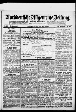 Norddeutsche allgemeine Zeitung vom 20.04.1916