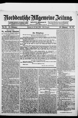 Norddeutsche allgemeine Zeitung vom 23.04.1916