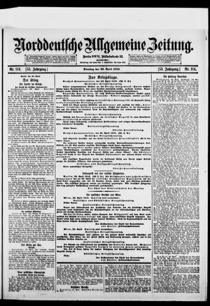 Norddeutsche allgemeine Zeitung vom 25.04.1916