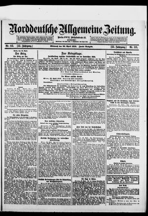 Norddeutsche allgemeine Zeitung vom 26.04.1916