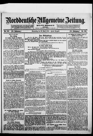Norddeutsche allgemeine Zeitung vom 27.04.1916