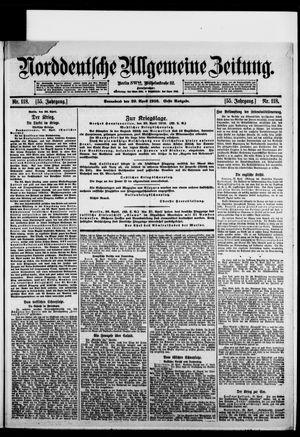 Norddeutsche allgemeine Zeitung on Apr 29, 1916