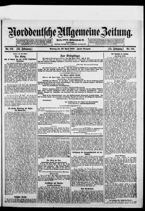 Norddeutsche allgemeine Zeitung on Apr 30, 1916