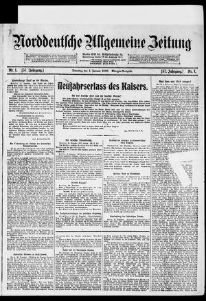 Norddeutsche allgemeine Zeitung vom 01.01.1918