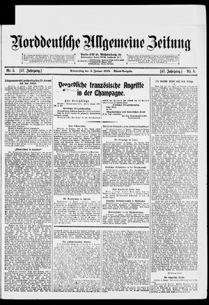 Norddeutsche allgemeine Zeitung vom 03.01.1918