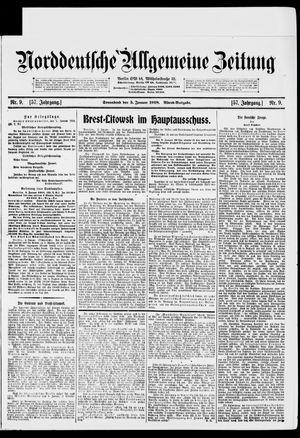 Norddeutsche allgemeine Zeitung vom 05.01.1918