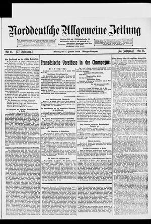Norddeutsche allgemeine Zeitung vom 07.01.1918