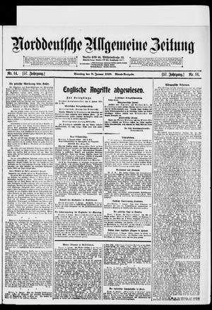 Norddeutsche allgemeine Zeitung vom 08.01.1918
