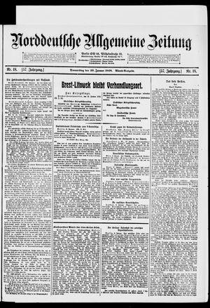 Norddeutsche allgemeine Zeitung vom 10.01.1918