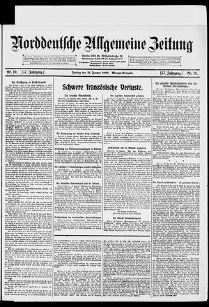 Norddeutsche allgemeine Zeitung vom 11.01.1918