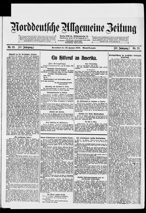 Norddeutsche allgemeine Zeitung vom 12.01.1918